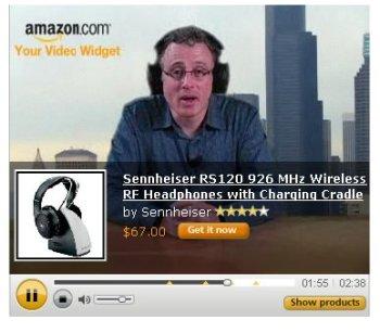 Video-Widget von Amazon