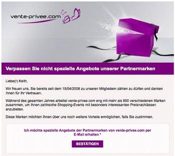 Vente Privée Mailing