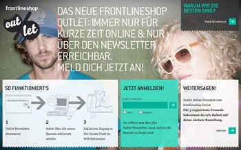 Outlet-Store von Frontlineshop