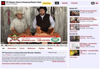 YouTube-Kanal von PFI Western