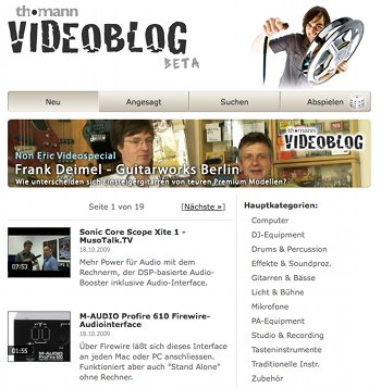 Video-Blog von Thomann