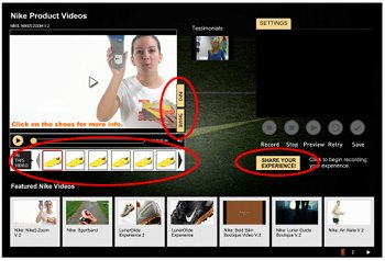Video-Shopping-Widget von Zappos