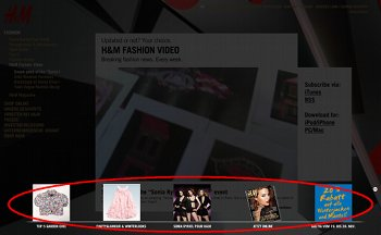 Fashion-Video von H&M mit Flash-Overlay