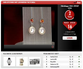 Web-Auktion bei 1-2-3.tv