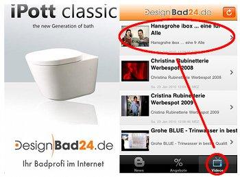 iPhone App von Designbad24
