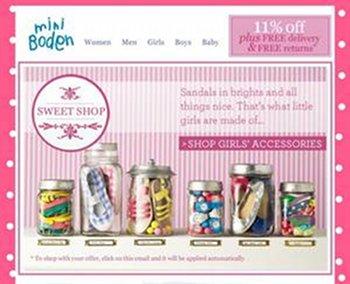 Newsletter-Werbung von Johnnie Boden