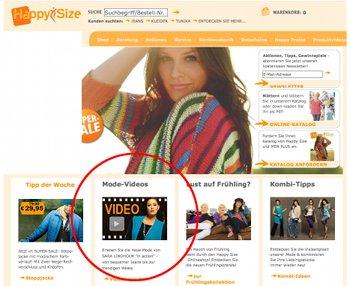Startseite von Happy Size