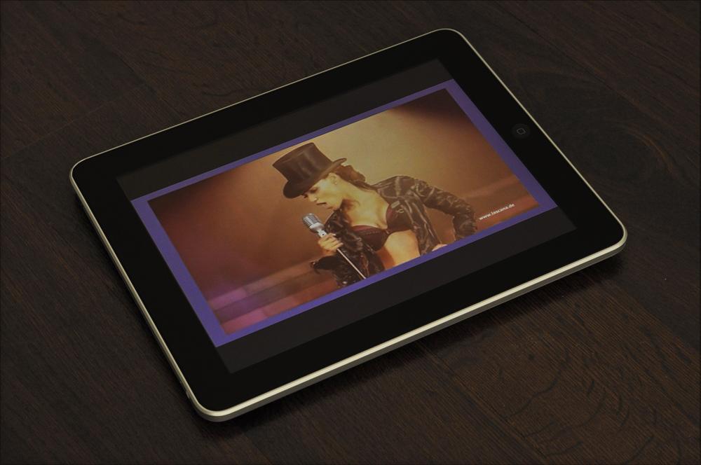 Online-Shop Lascana.de auf dem iPad