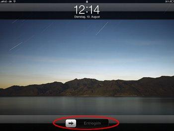 Schieberegler auf dem iPad