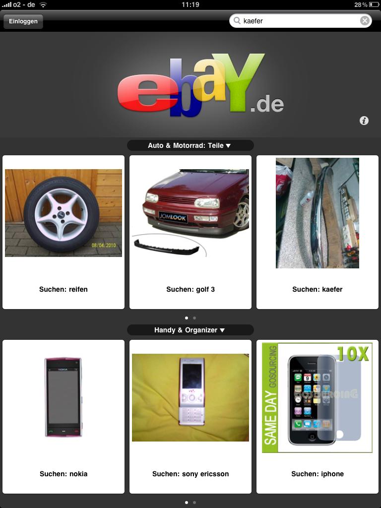 iPad App von eBay
