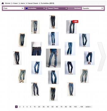 Visuelle Suche auf Stylight.de