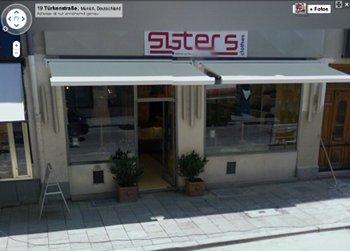 Street View Ansicht einer Mode-Boutique