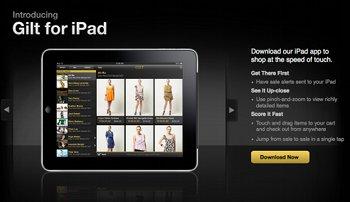 iPad App von Gilt Groupe