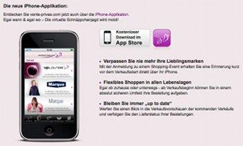 iPhone App von Vente Privee