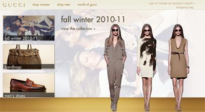 Gucci-Website auf dem iPad