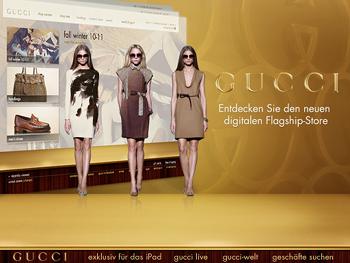 Native iPad-App von Gucci