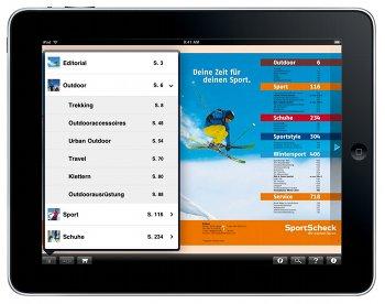 iPad App von Sportscheck