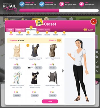 Facebook-Game Retail Therapy
