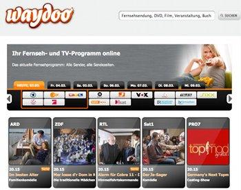 TV-Programm bei Waydoo