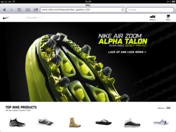 Browser-App von Nike