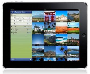 Hinundweg.com auf dem iPad