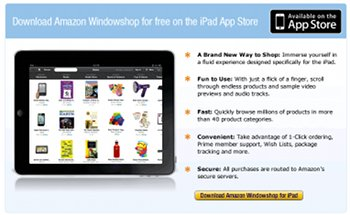 Amazon Windowshop for iPad