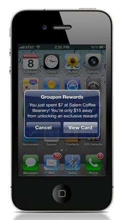 Groupon reward iphone